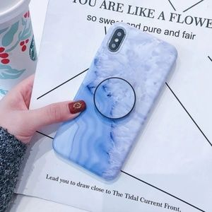 NEW iPhone Max/XR/X/XS/7/8/Plus Marble W/ Holder